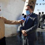 به مناسبت سالروز شهادت شهید بهنام محمدی؛ حضور فرماندار و مسئولان شهرستان مسجدسلیمان در یادمان شهدای گمنام